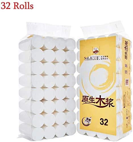 WYUKN Papel Higiénico Papel Higiénico Reciclado para Dispensadores De Toallas para Casas Móviles Inodoros De Cocina Papel Higiénico Suave para Las Oficinas (32 Rollos)