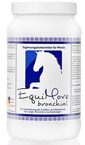 EquiMove bronchial Premium Husten Pellets für Pferde 1,5KG   hochwertiges Ergänzungsfutter zur Beruhigung der Atemwege   Schleimlöser   unterstützt Atem- & Immunfunktion