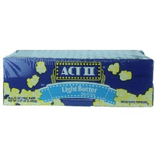 ACT II POPCORN LIGHT BUTTER 2.75 oz Each ( 18 in a Pack )