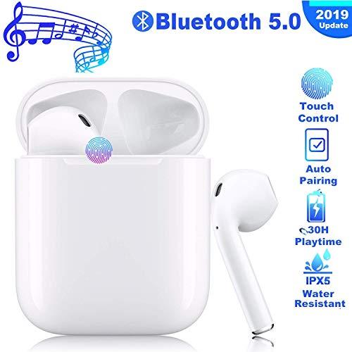Tindea Bluetooth 5.0 Ohrhörer HiFi-Headset Kabellose Bluetooth-Headsets Stereo-Kopfhörer In-Ear-Kopfhörer Rauschunterdrückungs-Headset, Portable Sports Wireless für iOS/Airpods/Android