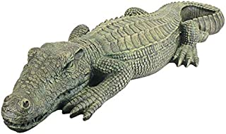 3 Ft Exotic Tropical Crocodile Alligator Home Garden Statue Sculpture (Xoticbrands)