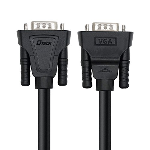 DTECH 3 Feet SVGA VGA Computer Monitor Cable Male to Male Supports 1080p High Resolution (1 Meter, Black)