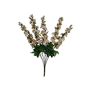 Kampoojoo – Beige Delphinium Bush Wedding Silk Flowers Centerpieces