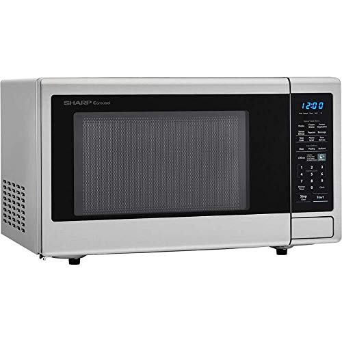 Sharp Carousel 1.4 Cu Ft Countertop 1000W Microwave Oven (Certified Refurbished)