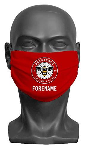 Personalised Brentford FC Crest Adult Face Mask- Large