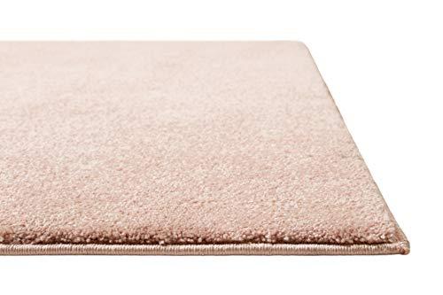 Homie Living | Kurzflor Teppich Super Soft, weich und kuschelig für Wohnzimmer, Schlafzimmer, Flur oder Kinderzimmer | Venice | Rosa | (120 x 170 cm)