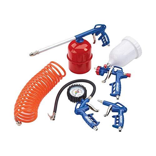 Kit de herramientas de aire de 5 piezas con pistola de rociado alimentada por gravedad para automóviles, bicicletas, vehículos recreativos, bolas y artículos inflables como colchón de camping