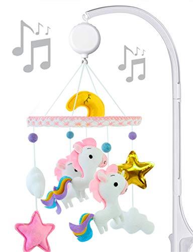 Unicorn Baby Mobile Felt Nursery Crib Mobile Handmade Baby Shower Gift for Girl