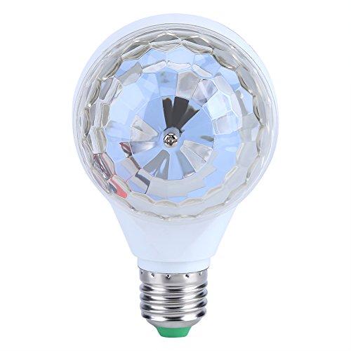 Luces Discoteca Bola E27 6W, efecto de fiesta navideña, bola mágica, LED KTV, DJ, luz de discoteca RGB LED (blanco)