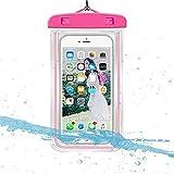 ZYCX123 Deportes Agua Teléfono móvil Impermeable Bolsa Deriva Submarinismo Piscina Bolsa Bolso seco subacuático del teléfono móvil Cubierta de la Piscina (Color : Pink Color)