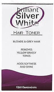 Brilliant Silver White Hair Toner Blonde & Grey Hair It Works Like Magic 15 Ml Bottle