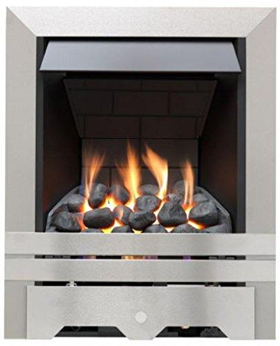 Punto focale incendi fpfaz00102Lilliput Slim Line Radiant Gas di controllo superiore Fire, colore: acciaio spazzolato