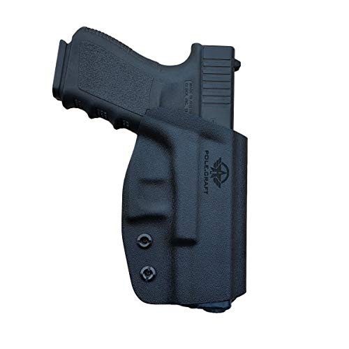 PoLe.Craft OWB KYDEX Holster Fits: Glock 19 19x 23 32 17 22 31 25 26 27 33 30s CZ P10 Gun Holster Belt Outside Carry Funda Pistola Case Pouch Holster Guns Accessories (Black, Right Hand Draw (OWB))