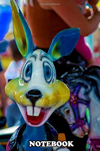 """Notebook: The Colourful Rabbit Was Taken And Processed By Photoar , Journal for Writing, College Ruled Size 6"""" x 9"""", 110 Pages"""