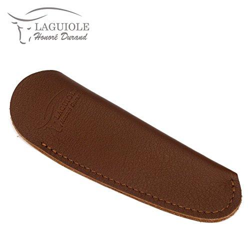 Laguiole Honoré Durand PS12M braunes Etui aus Leder für EIN Taschenmesser 11/12 cm