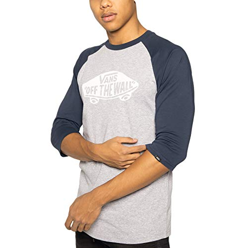Vans Mn Otw Raglan T-Shirt, Multicolore (Athletic Heather Dress Blues Koo), Medium Uomo