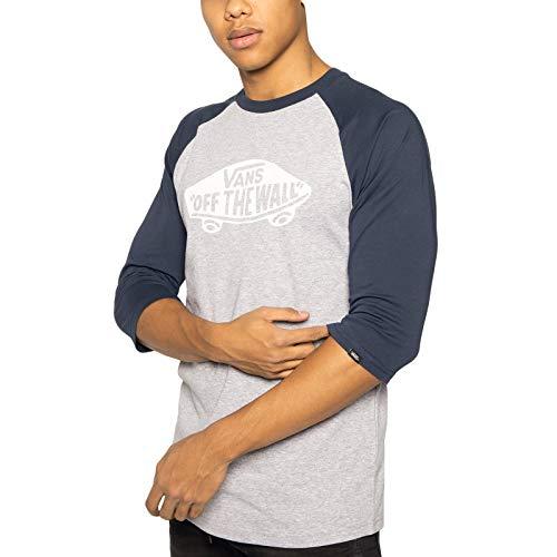 Vans MN Otw Raglan Camiseta, Multicolor (Athletic Heather Dress Blues Koo), Small para Hombre