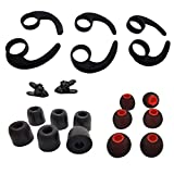 Earbud Kits 3 Pairs (LMS) Earhooks Universal Ear Fins,3 Pairs (M) Premium Memory Foam Earbuds Tips, 3 Pairs (LMS) Eartips Silicone Replacement Earbuds Tips, 2 Pcs Cord Clips for in Ear Earbud