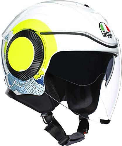casco scooter agv CASCO ORBYT AGV MULTI SUNSET WHITE/YELLOW FLUO M