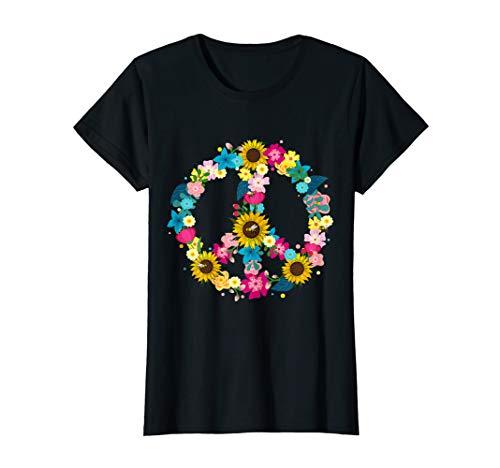 Peace Symbol 60er Jahre 70er Kostüm Geschenk für Hippies T-Shirt