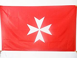 AZ FLAG Activity Order of Malta Flag 3' x 5' for a Pole - St John of Jerusalem Flags 90 x 150 cm - Banner 3x5 ft with Hole