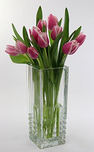Vetro italiano tradizionale Vaso da fiori quadrato, solo nel tempo per la festa della mamma)