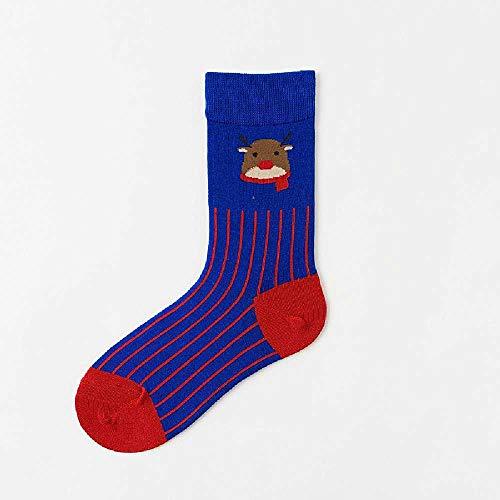 XIAOPENG Elch Socken Damen Socken Wintersocken Baumwolle Mittelrohr Elch