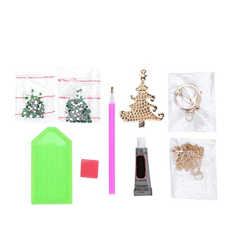 Delaman Christmas Tree Accessories DIY Girls Jewelry Making Kit Necklace Pendant and Bracelet Crafting Set Party Decoration Accessories
