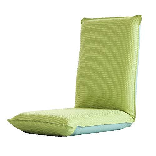 Hem Soffa Semi-fällbara Floor Chair Meditation vilstolen och Utomhusstol Justerbar läsfåtöljen Bekväm Upplevelse (Color : Green, Size : 110x50x9cm)