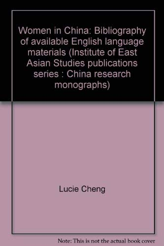 Women in China: Bibliography of available English language materialsの詳細を見る