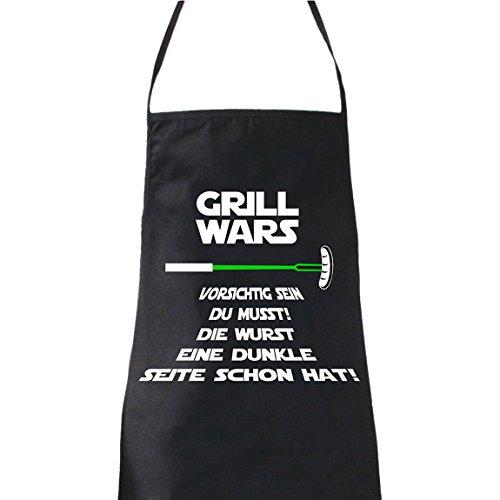 """ShirtWorld–Grembiule con scritta in tedesco """"Grill Wars Vorsichtig sein Du musst"""""""