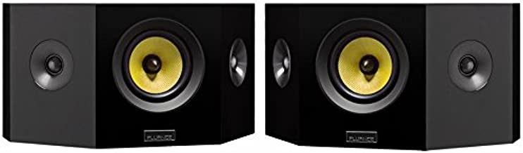 Fluance Signature Series Hi-Fi Bipolar Surround Sound Wide Dispersion Speakers for Home Theater (HFBP)- Natural Walnut