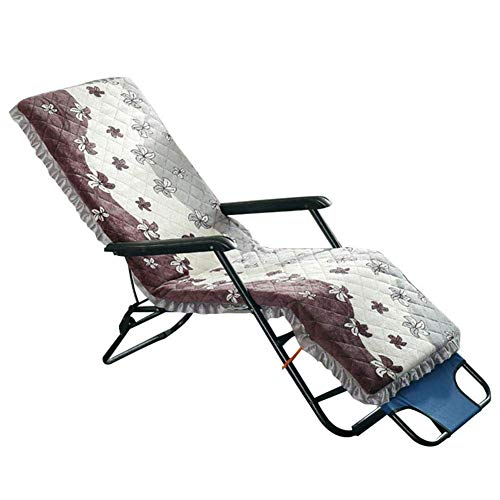 Lounge Chair Cushion, Folding Seat Back Rocking Recliner Pads Removable Cushion For Indoor Outdoor Office (without Chair)