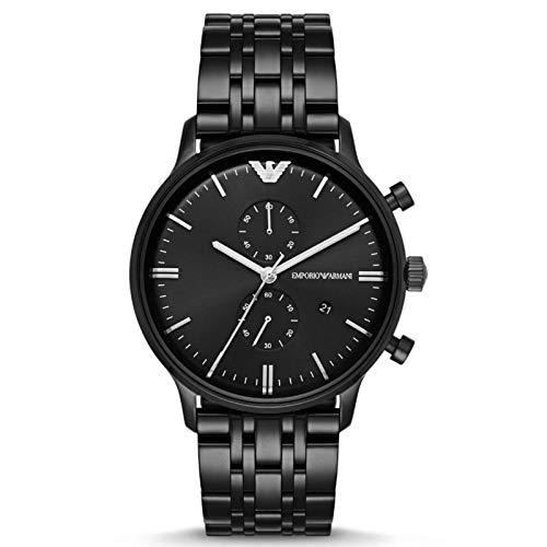 Unieke Stuff Shop Nieuwe Emporio Armani mannen AR1934 Zwarte Chronograaf Horloge met Doos