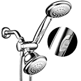 HotelSpa Ultra Luxury 42 Setting Shower Head/Handheld Shower Combo with Patented ON/OFF Pause Switch and 5-7 Foot Stretchable Stainless Steel Hose/Premium Chrome