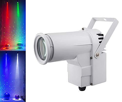 Mirror Ball Light, DJ Disco Ball Spotlight, Full Color RGBW 4in1 12w LED Pin Spot Light