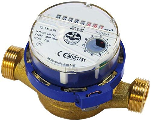 High Quality Cold Water Meter Flow 1/2inch (3/4inch) BSP 1,6 m3/h
