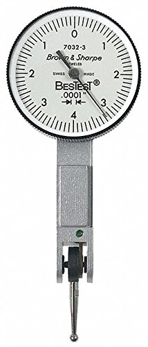 Dial Test Indicator, Hori, 0 to 0.008 In