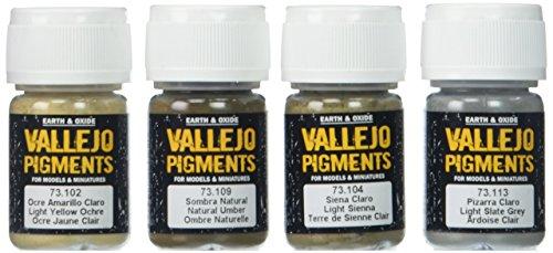 """Acrylicos Vallejo"""""""" pigmentos de barro y de arena"""