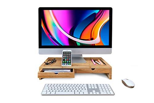 TickleBrick Desk Store - Organizador de Escritorio de Madera de bambú con...