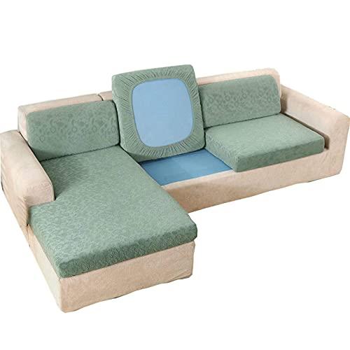 Stretch Sofa Kissenbezug, 1/2/3 Sitzer Couch Sitzbezug Chaiselongue Möbelschutz Anti-Rutsch Anti-Kratz Jacquard Kissenbezug für L-Form Sofa Stuhl 2-Sitzer 2-Sitzer (XL)-Hellgrün