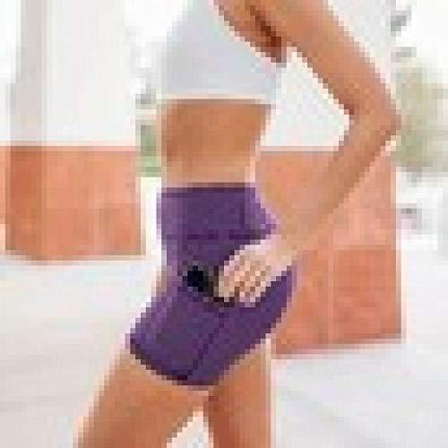 bayrick Cambio Diario,Pantalones Cortos de la Fitness de la Tira Horizontal de Las Mujeres Pantalones de Yoga de la Cadera de Alta Cintura Alta-4_L