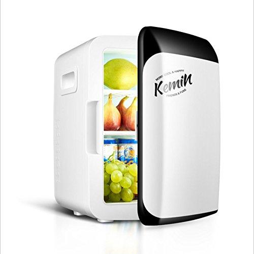 Comprajunta Mini Kühlschrank Kühlschrank Heizung Für Haus und Auto Bus RV Boot Yacht, Mini-Bar Gefrierschrank Tragbare 12V 220V 4 Farbe,White