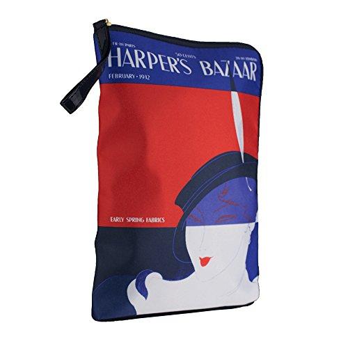 Estee Lauder Harper's Bazaar Bazar Blue Red Makeup Cosmetic Bag by Harper's Bazaar