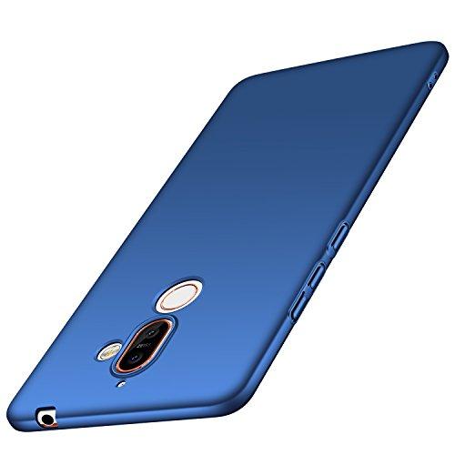 Anccer Cover Nokia 7 Plus, [Alta Qualità] [Ultra Thin] Anti-Scratch Hard PC Case Custodia per Nokia 7 Plus (Liscio nero)