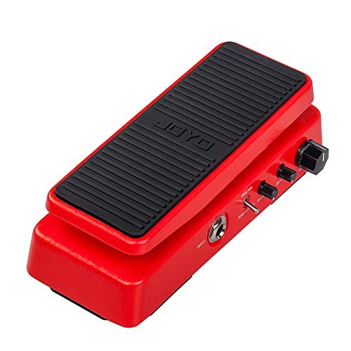 JOYO WAH-II Classic and Multifunctional WAH Pedal Featuring Wah-Wah/Volume Functions with WAHWAH Sound Quality Value knob (Red)