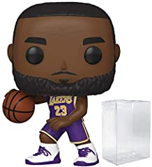 Bundled Plastic Box Protector with the collector in mind (Removable Film) From NBA, LA Lakers Lebron James, as a stylized pop vinyl from funko! Stylized collectible stands 3 3/4 inches tall, perfect for any sports fan! Ships in acid-free PET plastic ...
