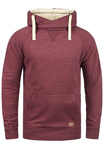 Blend Sales Teddy Herren Winter Pullover Kapuzenpullover Hoodie Sweatshirt mit Teddy-Futter, Größe:XXL, Farbe:Zinfandel Teddy (73840)