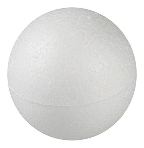 Decora 0181217 Palline, Polistirolo, Bianco, 7 cm, 5 unità