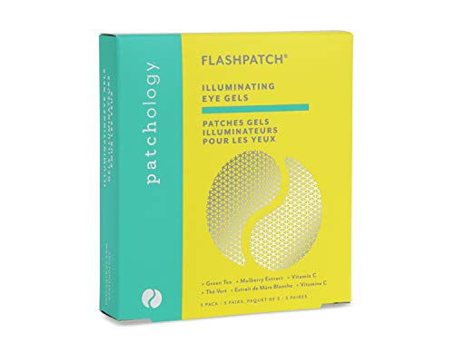 Patchology FlashPatch Illuminating Under Eye Patches with Green Tea and Vitamin C to lighten Dark Circles, 5 Pair
